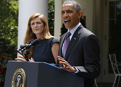 President Obama nominating Samantha Power as next U.N. ambassador / AP