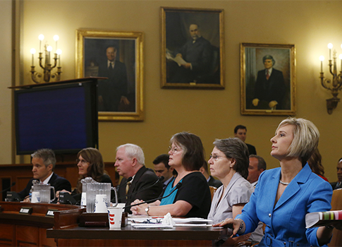 Representatives from six conservative groups testify /  AP