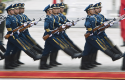 Soldiers of the Chinese PLA's honor guard battalions / AP