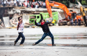 Turkish protesters fight against riot police / AP