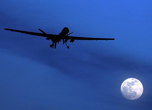 U.S. Predator drone in southern Afghanistan / AP