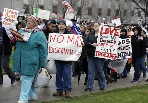 Immigration rally in Minnesota / AP
