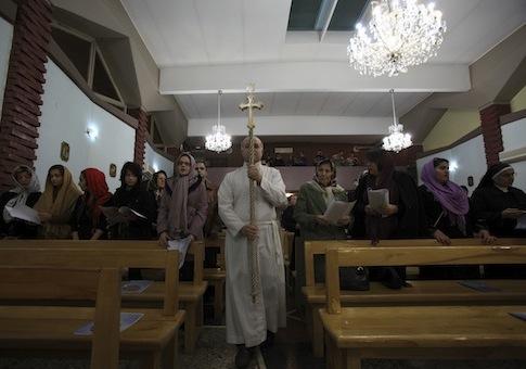 Iranian Christians attend Christmas mass in Tehran / AP