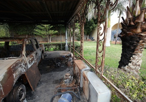 Burnt consulate in Benghazi, Libya