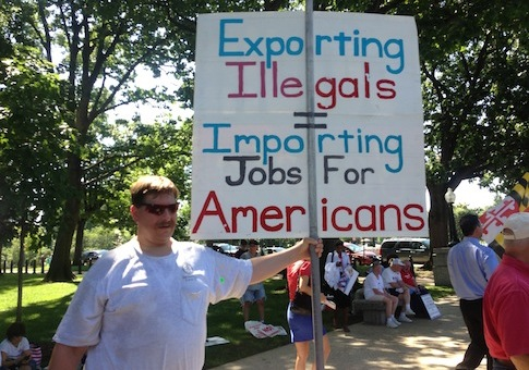 Concerned 'Murican at Jobs Rally / Source: Thomas Gibbons-Neff
