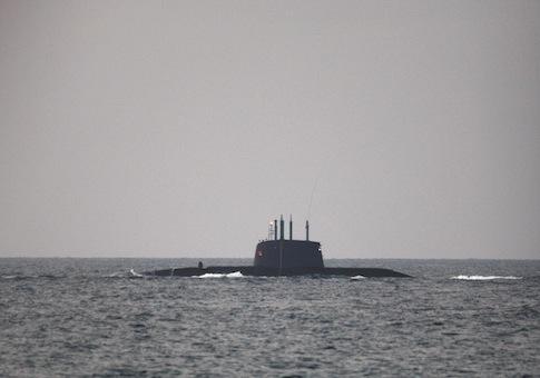 Israeli naval submarine / AP