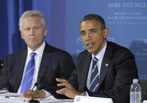 Jeffrey Immelt, Barack Obama / AP