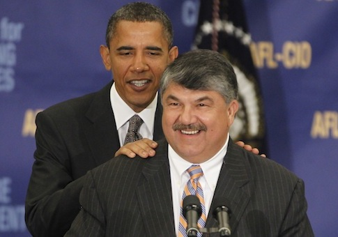 President Barack Obama, AFL-CIO president Richard Trumka / AP