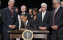 President Barack Obama signing the Dodd-Frank Act in 2010 / AP