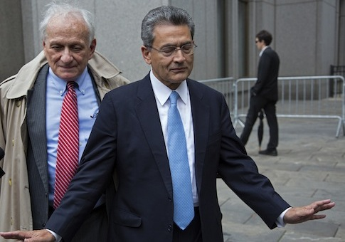 Rajat Gupta, right, and his lawyer / AP