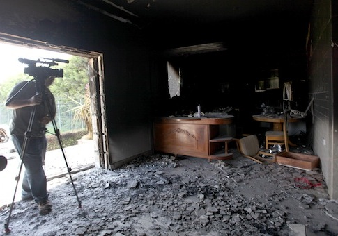 Gutted U.S. consulate in Benghazi / AP