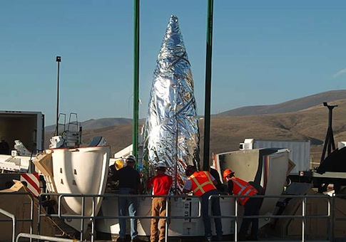 Ground Based Interceptors at Vandenberg Air Force Base. Russian officials carried out a secret inspection of the base this week / Boeing