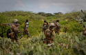 Soldiers surverying land in the midst of conflict with Al-Shabaab / AP