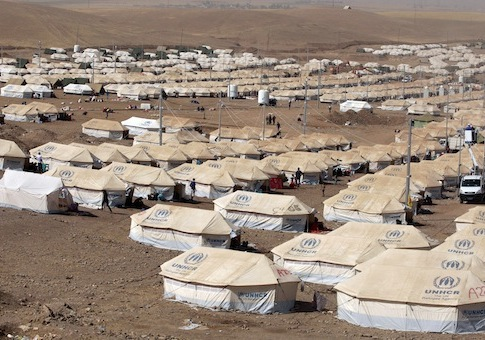 Syrian refugee camp / AP