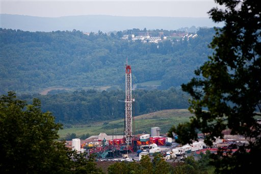 Natural gas well in West Virginia / AP