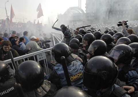 Protest in Moscow, May 6, 2012 / AP