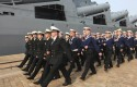 Russian sailors participating in joint Naval exercises with China / AP
