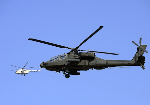 Egyptian military helicopters / AP