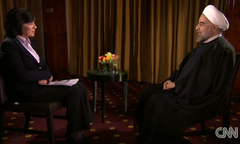 CNN interview with Iranian President Hassan Rowhani / Screenshot of CNN interview