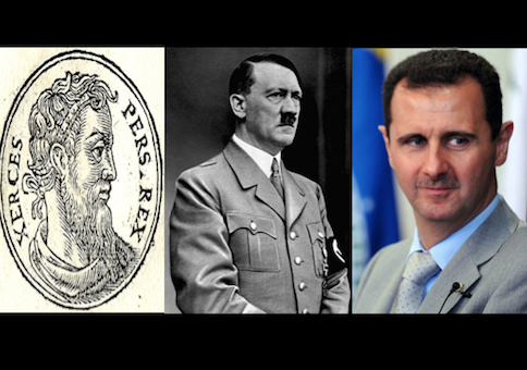 Xerxes, Hitler, and Assad / Wikimedia Commons