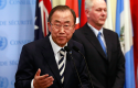 U.N. Secretary-General Ban Ki-moon speaks to the media after briefing the Security Council on the U.N. chemical weapons report on the use of chemical weapons, Sept. 16, 2013. REUTERS/Shannon Stapleton