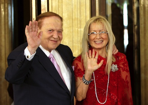 Dr. Miriam Adelson with her husband Sheldon. / AP