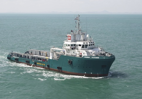 French-flagged vessel working offshore of Nigeria / AP