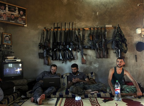 Fighters in the Free Syrian Army / AP