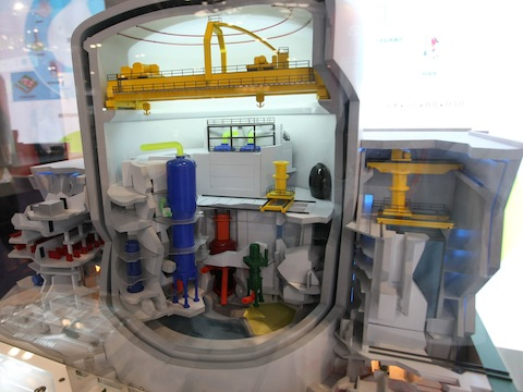 A model nuclear reactor on display in China / AP