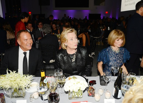 Michael Kors, Hillary Rodham Clinton, and Anna Wintour / AP