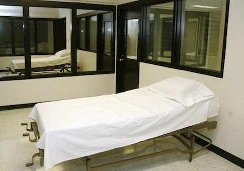 death chamber at the Missouri Correctional Center / AP