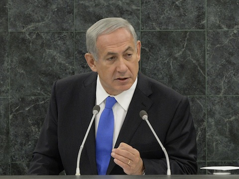 PM Netanyahu at the U.N. / AP