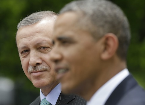 President Barack Obama with Turkish Prime Minister Recep Tayyip Erdogan / AP