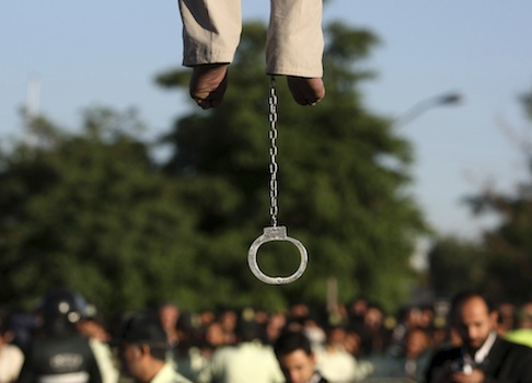 Man being hanged near Tehran, Iran / AP