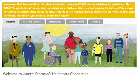 Kentucky's Kynect experienced downtime Tuesday morning.