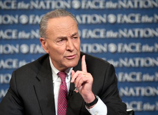 "Sen. Chuck Schumer (D., N.Y.) speaks on ""Face the Nation,"" Sunday, Oct. 13, 2013."