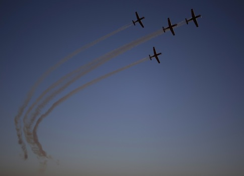 Israeli Air Force acrobatic team / AP
