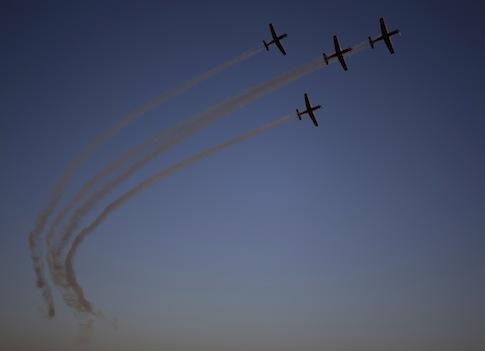 Israeli Air Force acrobatic team / AP