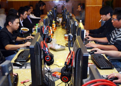 Internet cafe in Jiaxing city, China / AP