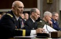 From left, Army Chief of Staff Gen. Raymond Odierno, Chief of Naval Operations Adm. Jonathan Greenert, Marine Corps Commandant Gen. James Amos, and Air Force Chief of Staff Gen. Mark Welsh, testify on Capitol Hill in Washington, Thursday / AP