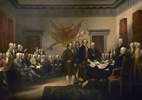 Declaration of Independence Signing