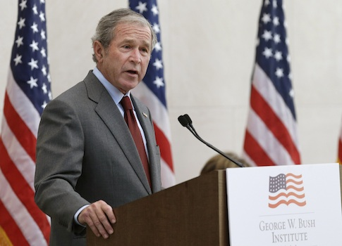 George W. Bush said the United States should build the Keystone XL pipeline to grow the private sector