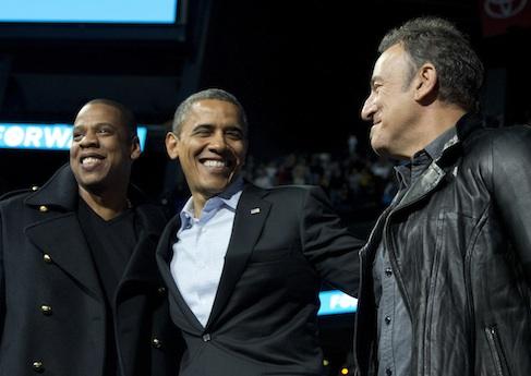 Jay-Z, Barack Obama, Bruce Springsteen / AP