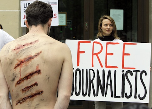 Reporters Without Borders protests Iran's imprisonment of journalists