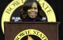 Michelle Obama, Bowie State University / AP