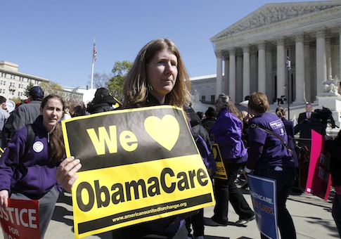 Obamacare supporter rally