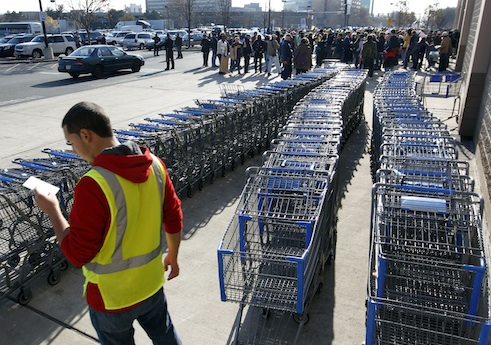 OUR Walmart protest on last year's Black Friday / AP