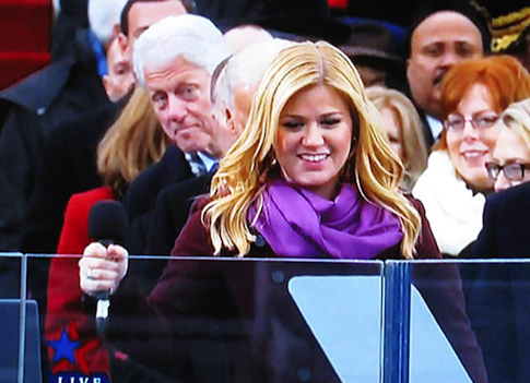 Bill Clinton checking out Kelly Clarkson at the 2012 Inauguration.