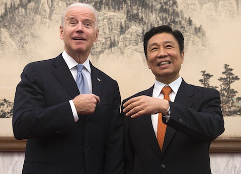 Vice President Joe Biden and his Chinese counterpart Li Yuanchao