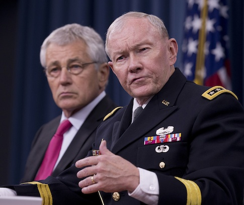 Secretary of Defense Chuck Hagel, Chairman of the Joint Chiefs of Staff Martin Dempsey